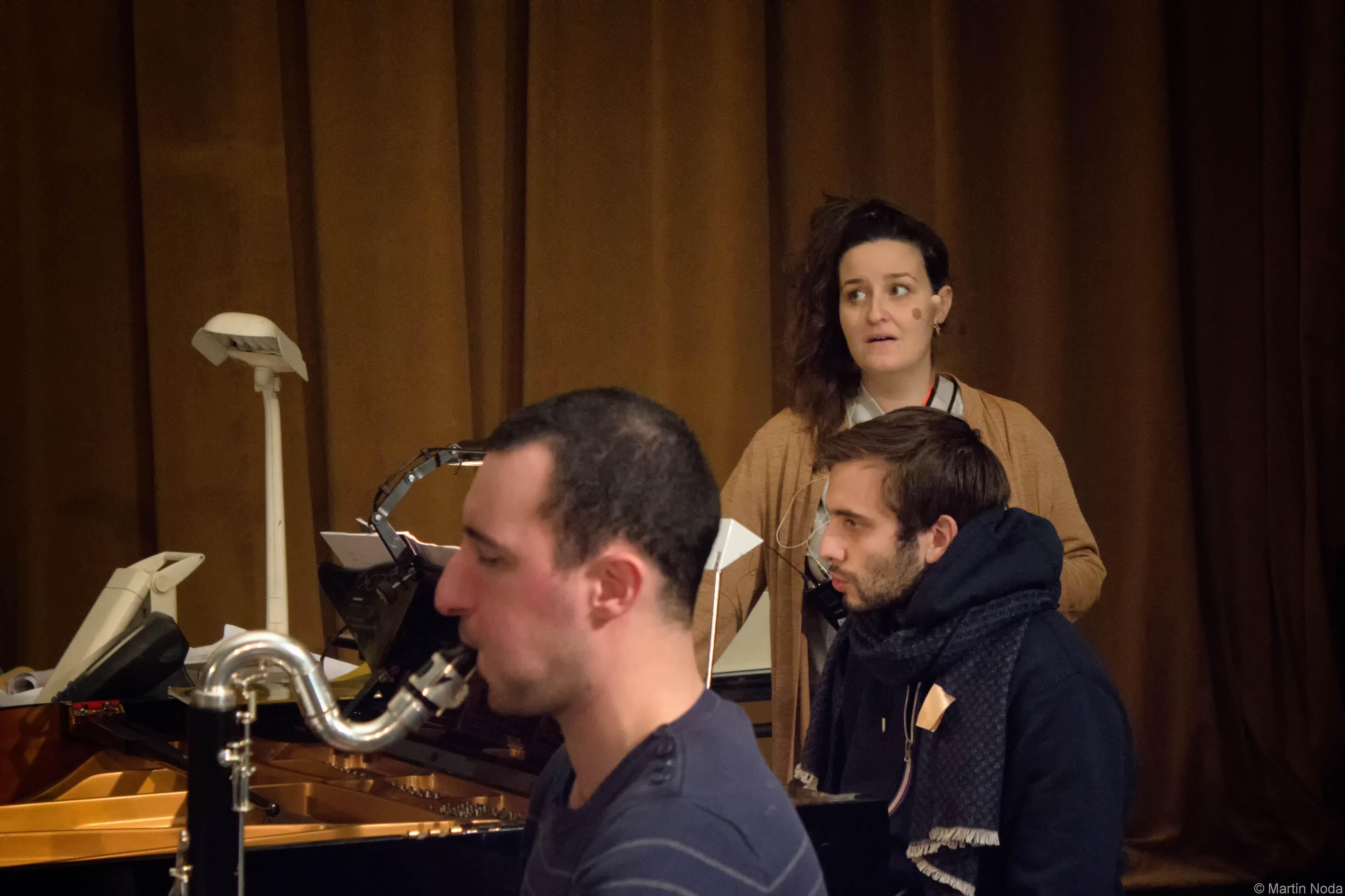 Répétitions, Antoine Cambrouzzi, Romain Loouveau et Marie Soubestre