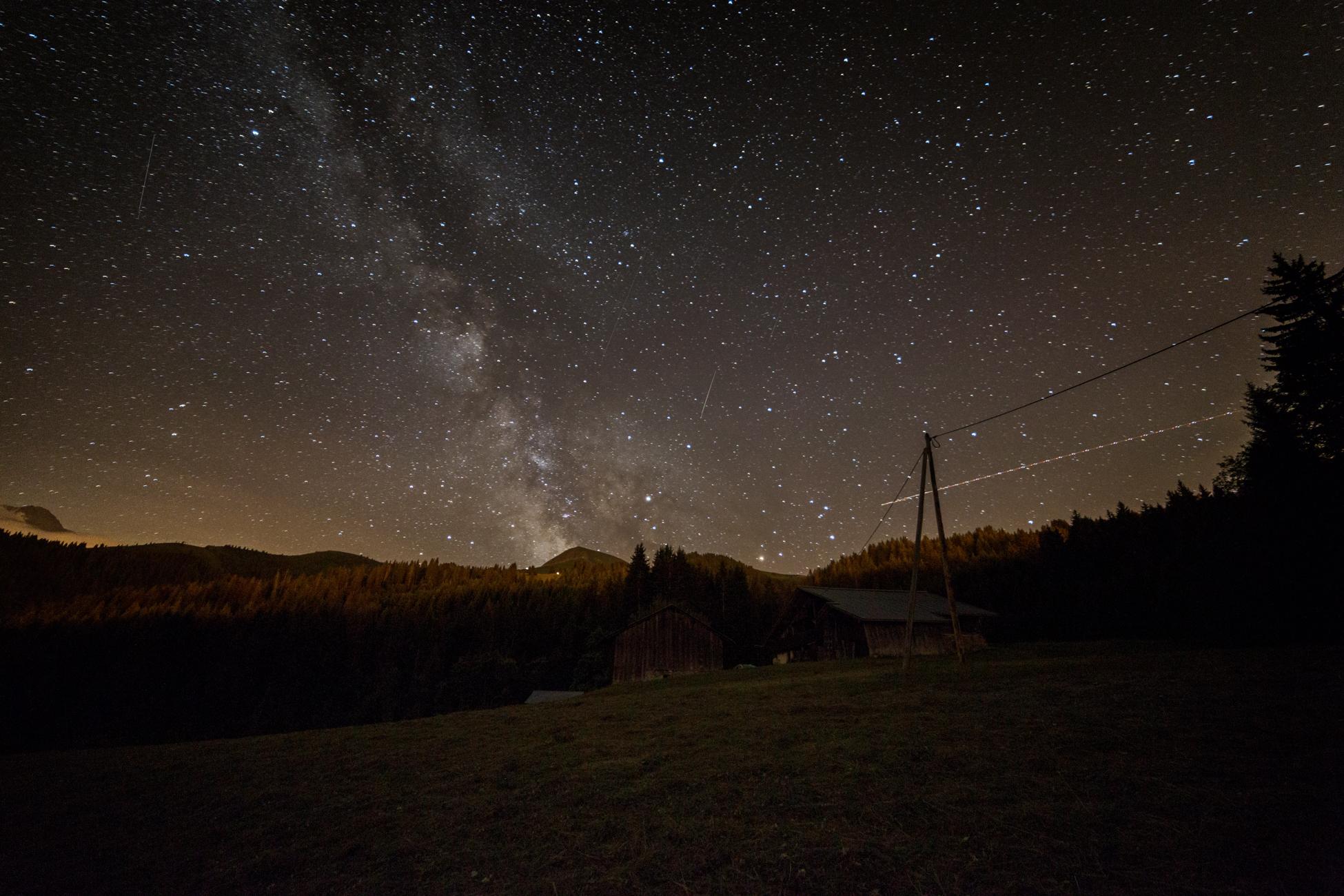 Nuit à Saint-Gervais
