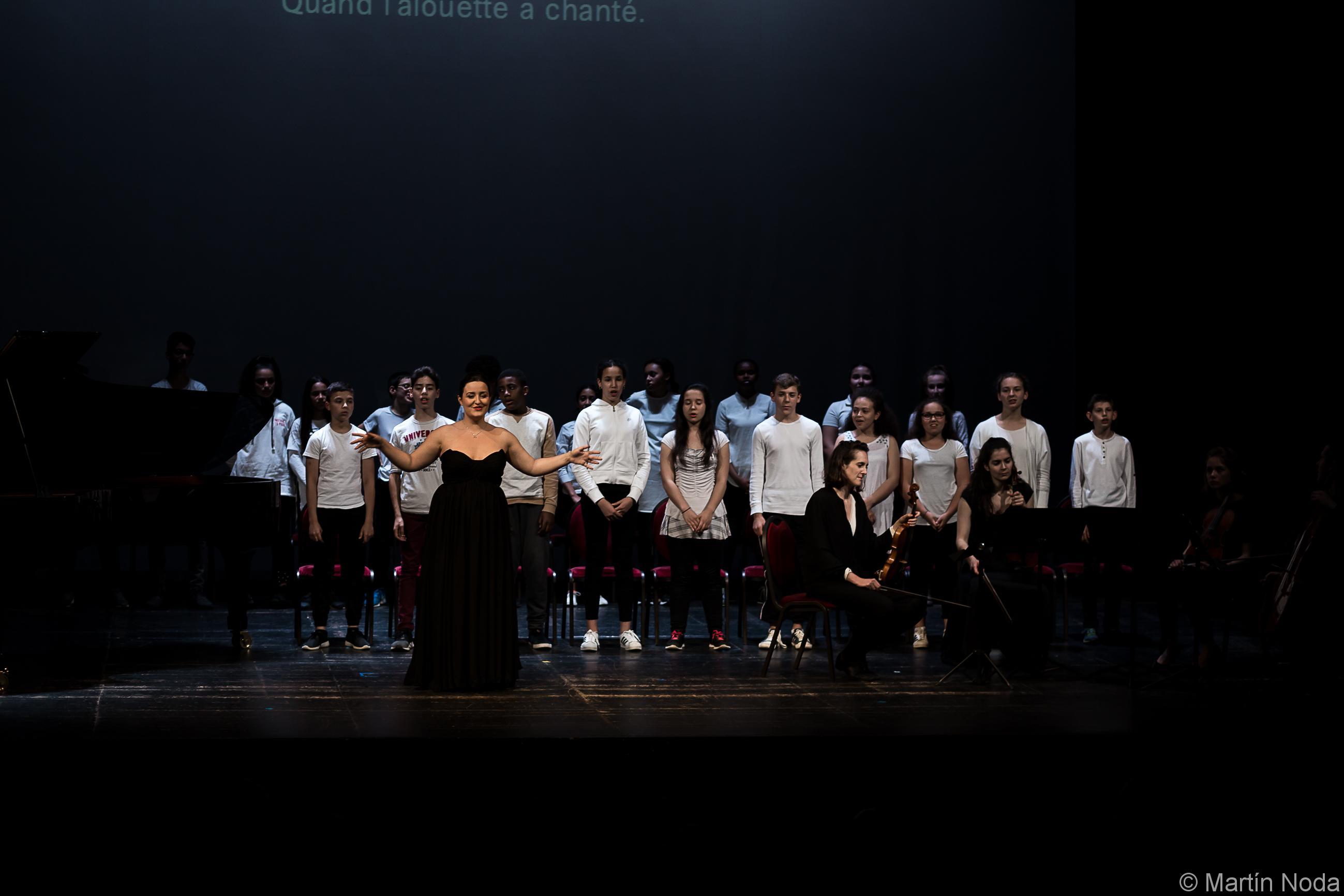 Marie Soubestre et la classe de 5ème du collège Côte Rousse de Chambéry