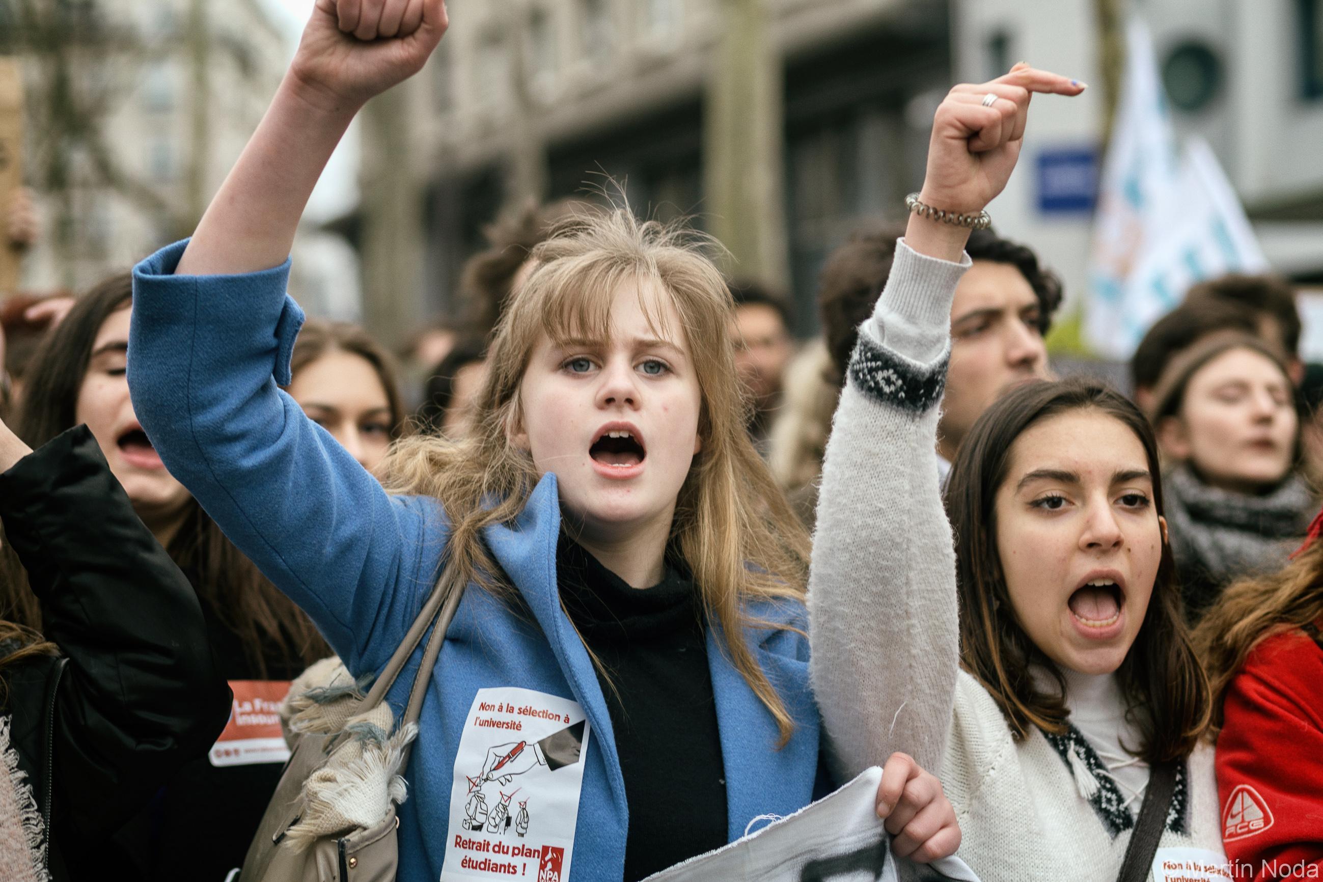 Paris - 22/03/2018 - Manifestation de la fonction publique et de la SNCF