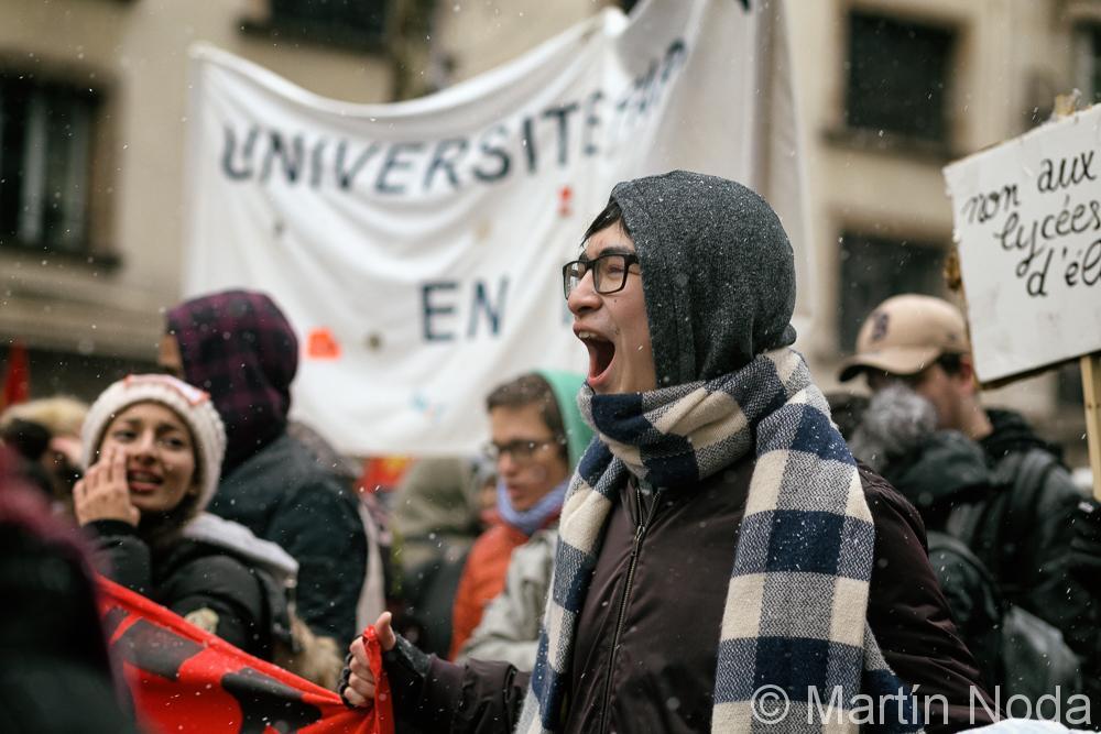 Paris - 06/02/2018 - Manifestation contre la sélection à l'université
