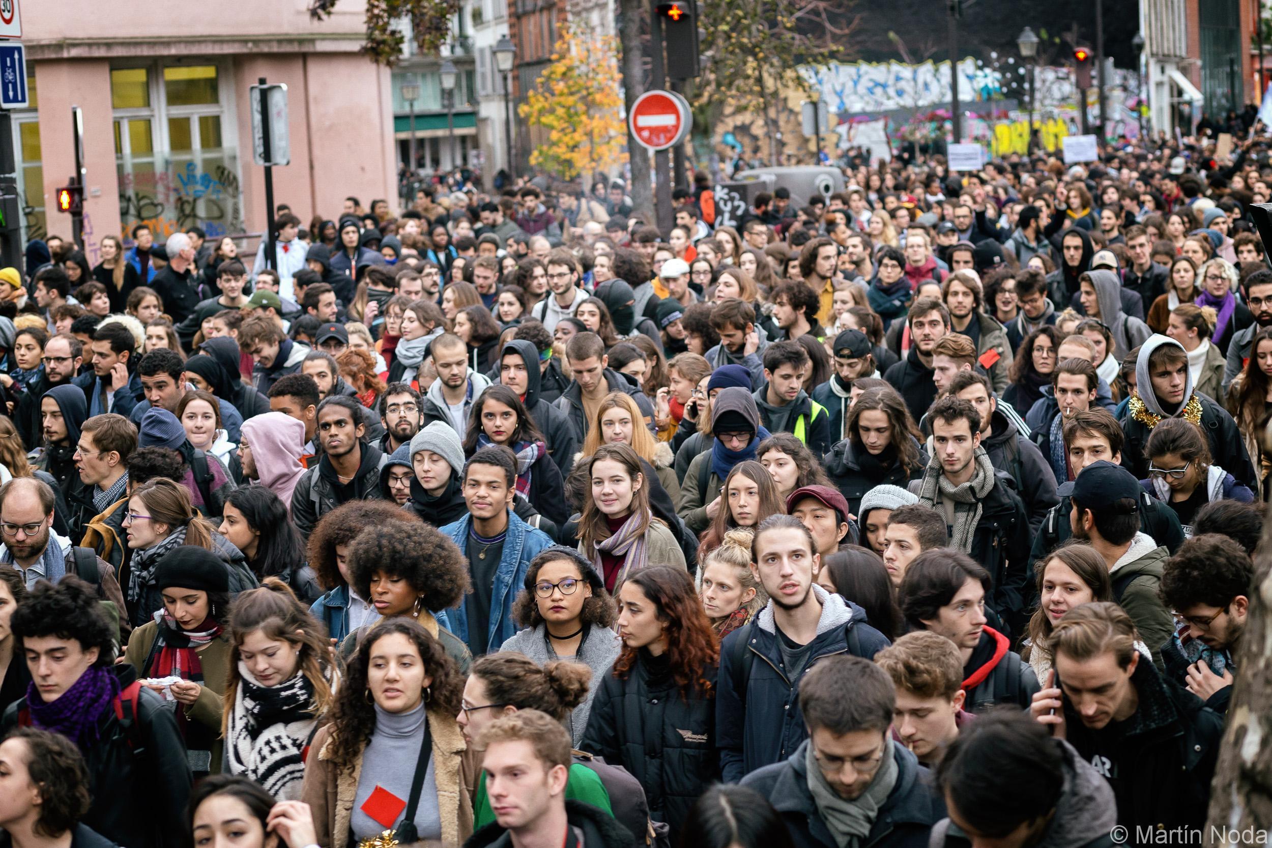 Paris - 06/12/2018 - Mobilisation lycéenne et Etudiante