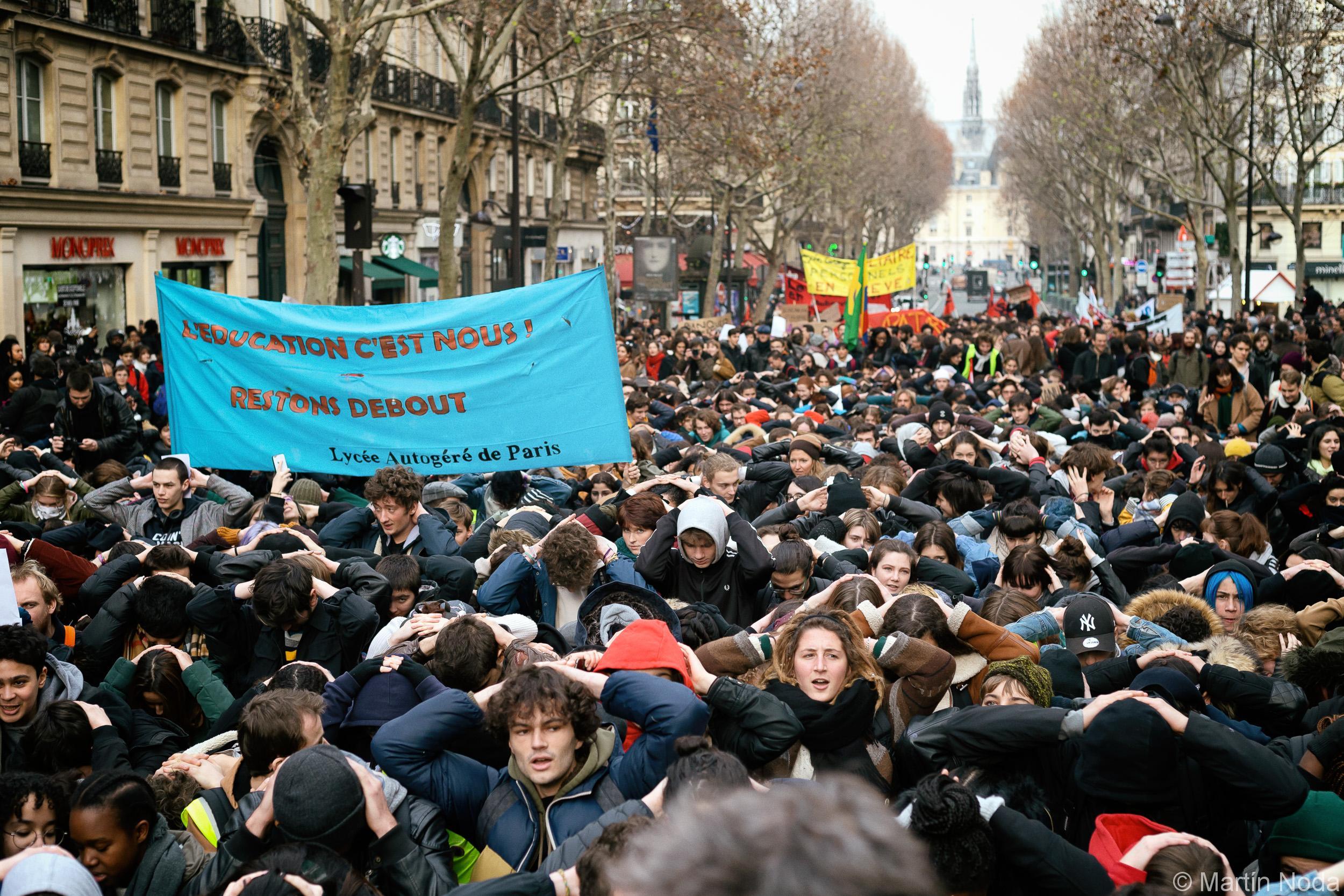 Paris - 11/12/2018 - Mobilisation lycéenne et Etudiante