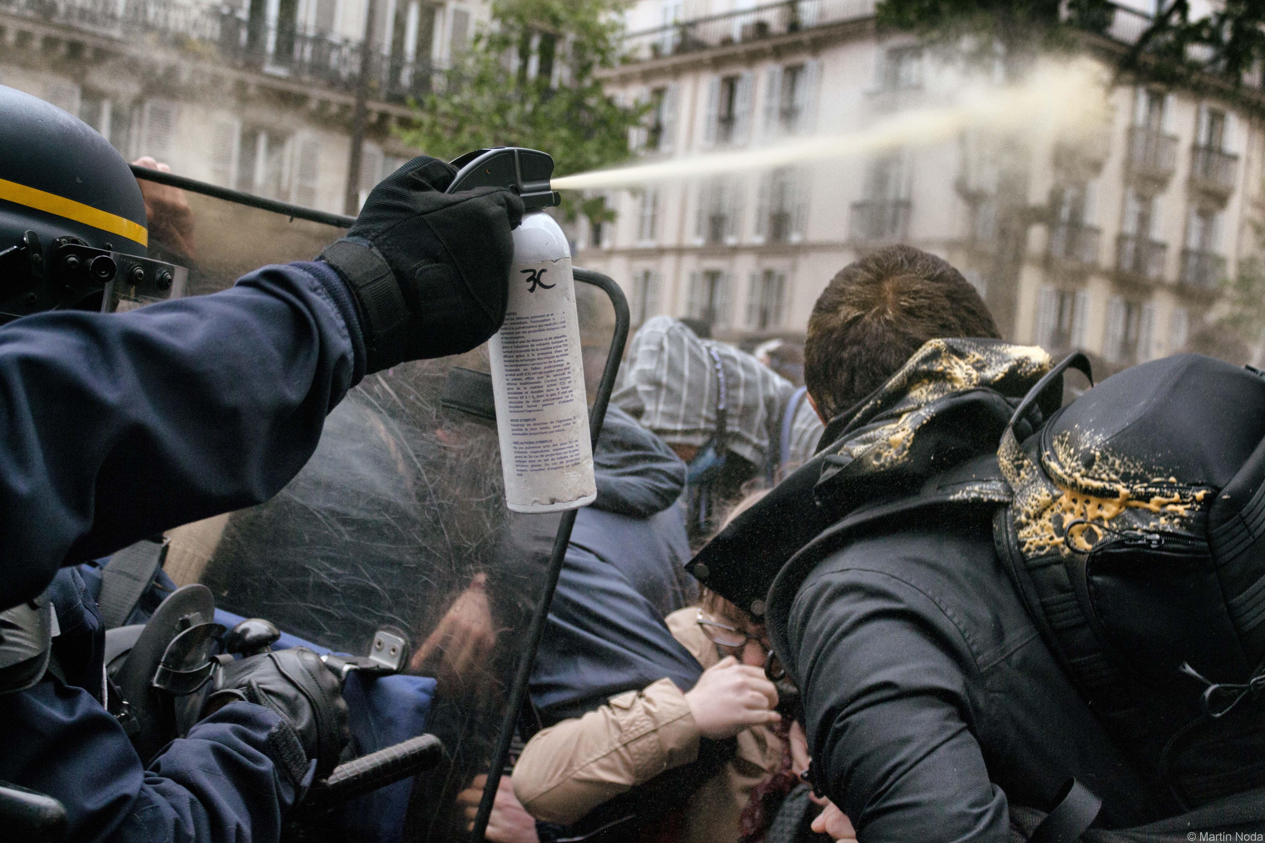 Paris - 08/05/2017 - Manifestation pour un troisième tour social