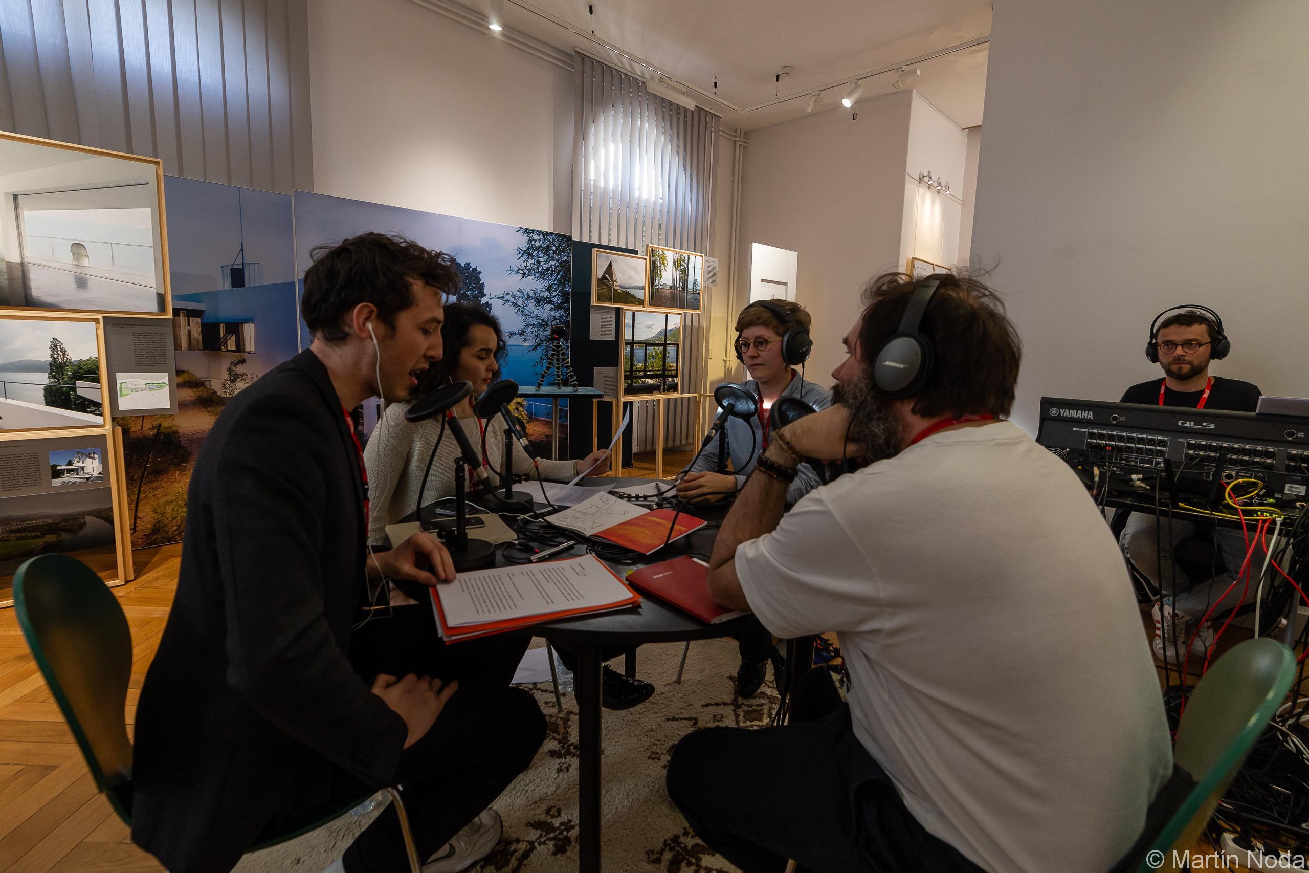 Antoine Thiollier, Jacques Perconte, Marie Kiesel et Dounia Acherar