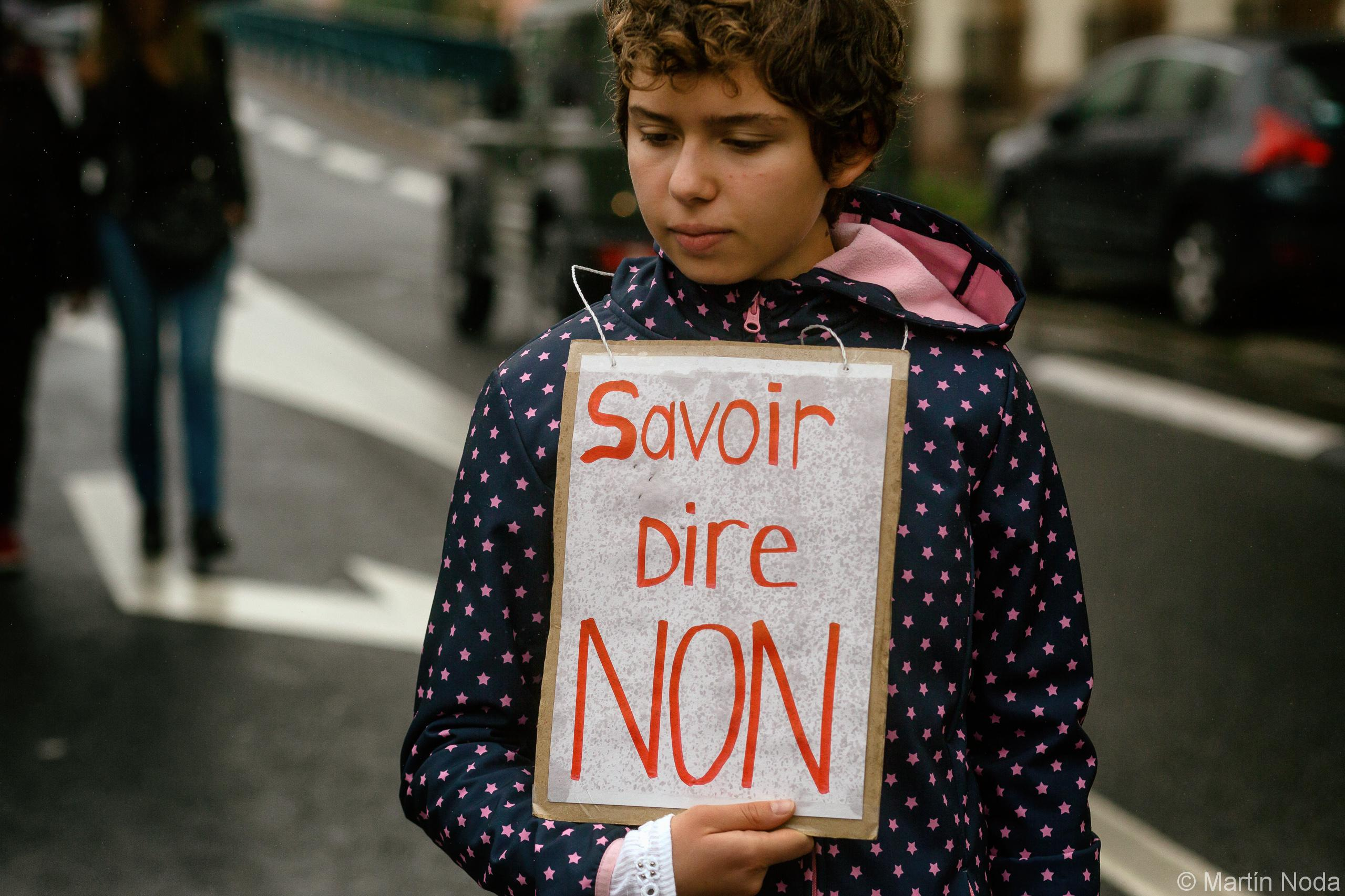 Marche blanche pour Christine Renon à Pantin. 05/10/2019.