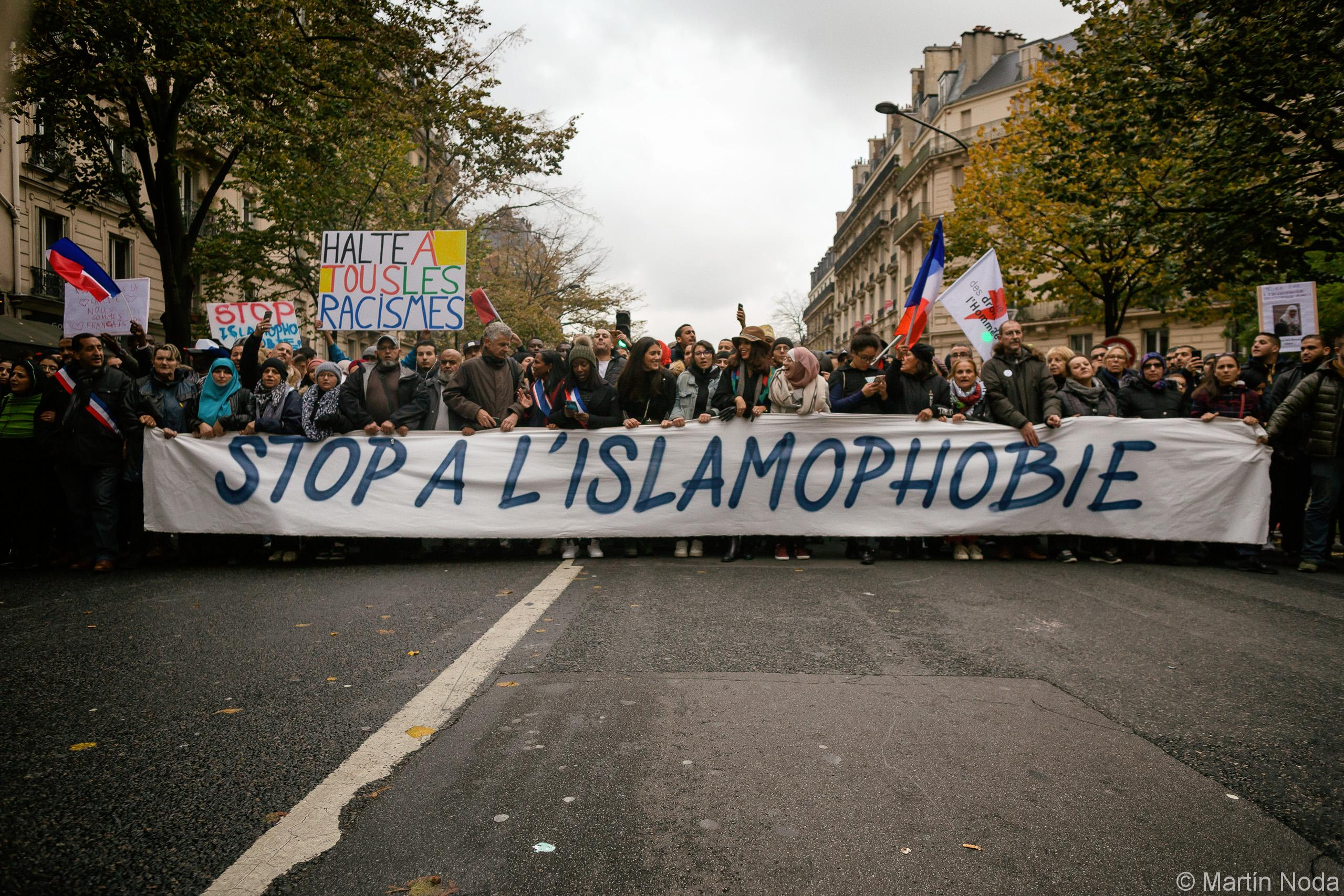 Manifestation contre l'islamophobie. 10/11/2019.